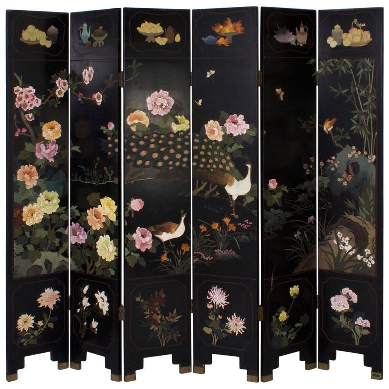 Mid Century Six-Panel Chinese Screen