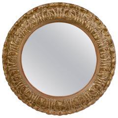 Small Circular Gilt Convex Mirror