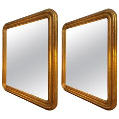 Pair of 19th Century Gilded French Mirrors