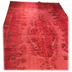 Overdyed Rug in Red, Largest