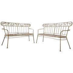 Iron Mid-Century Lawn Benches