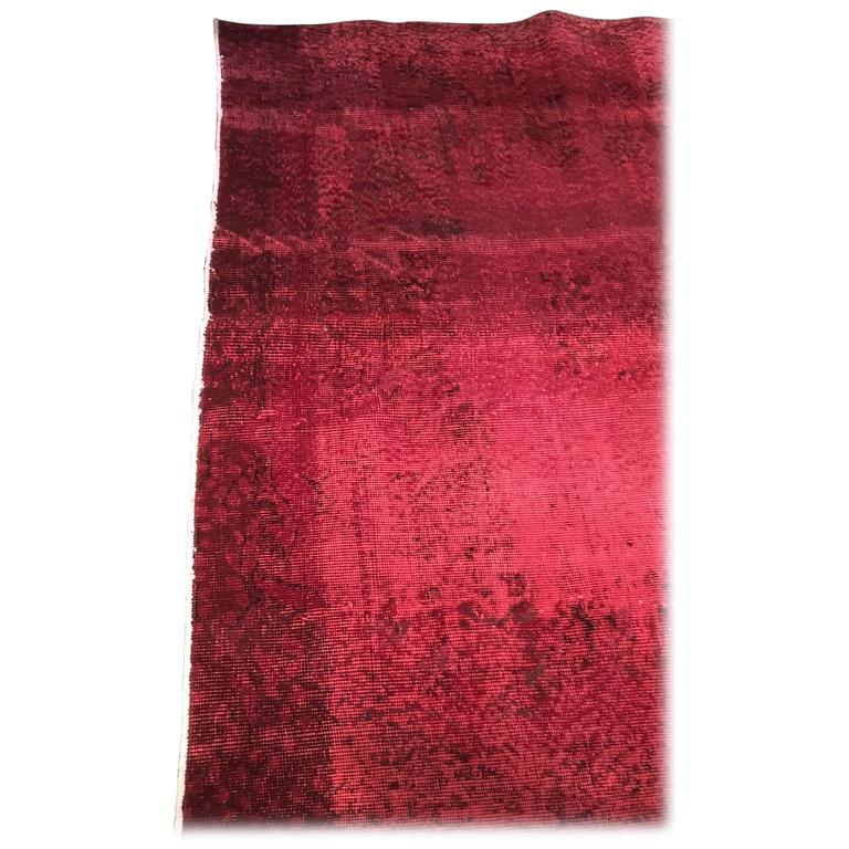 Vintage Red Overdyed Rug 3 1