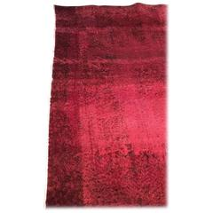 Vintage Red Overdyed Rug 3