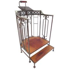 Vintage Cast Iron Podium with Lectern or Host Stand