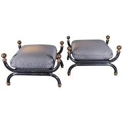 Original Pair of Steel Footstools