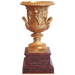 Early 19th Century French Charles X Gilt Bronze Urn