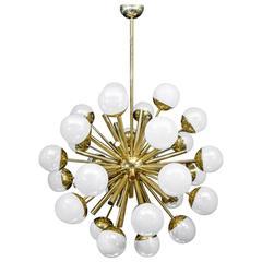 Glustin Luminaires Sputnik Chandelier with Iridescent Globes