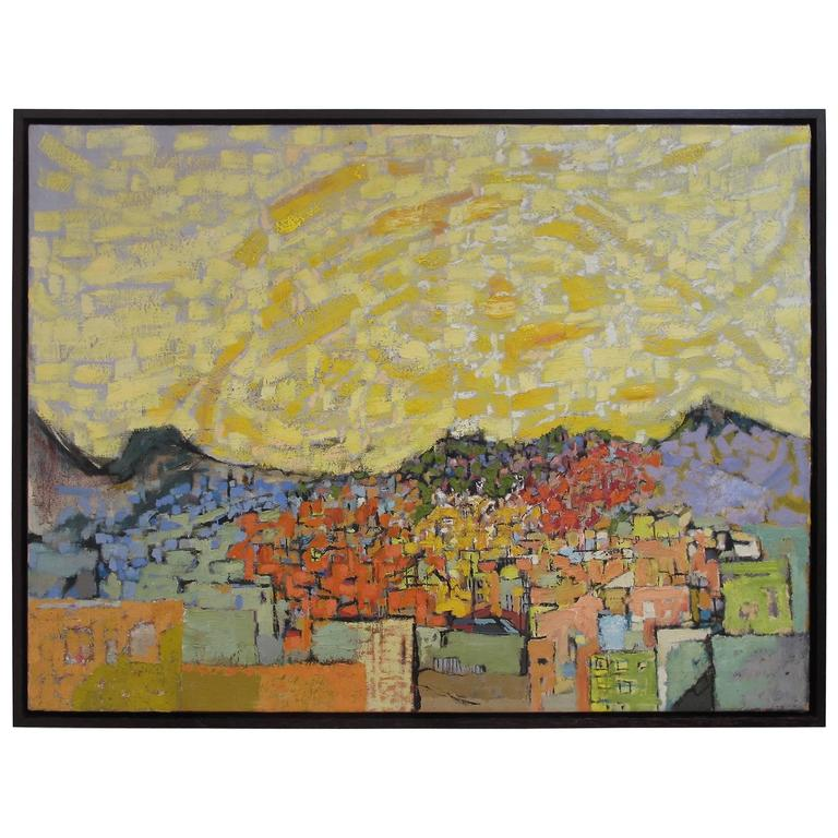 Mid-20th Century Abstract Landscape Painting