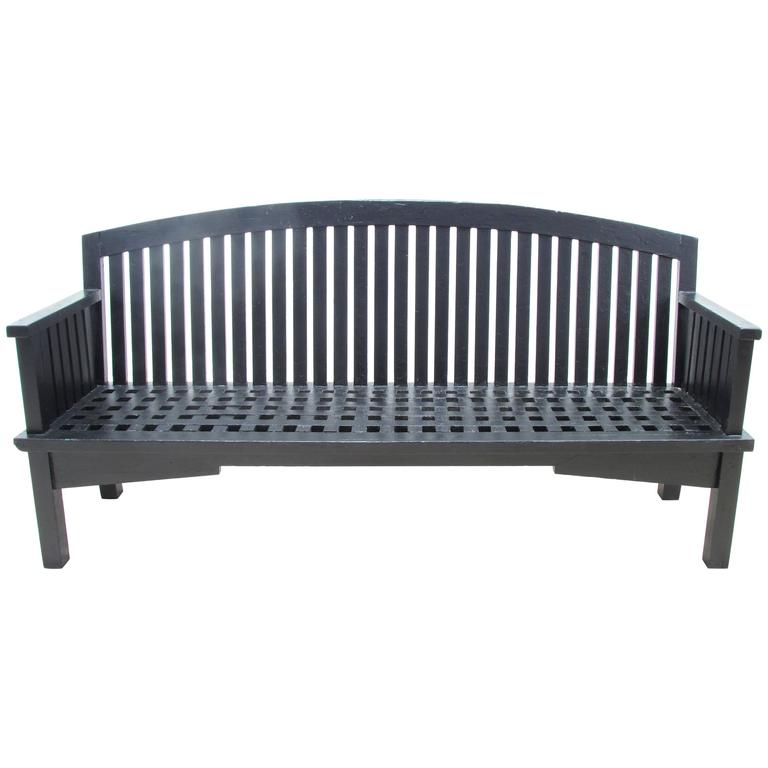 Long Wooden Garden Bench For Sale At 1stdibs
