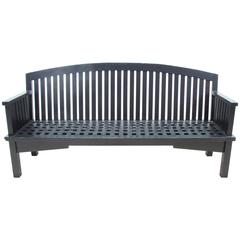 Long Wooden Garden Bench