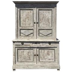 Two Piece Tall Painted Cabinet