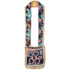 19th Century Native American Oklahoma Territory Bandolier Bag