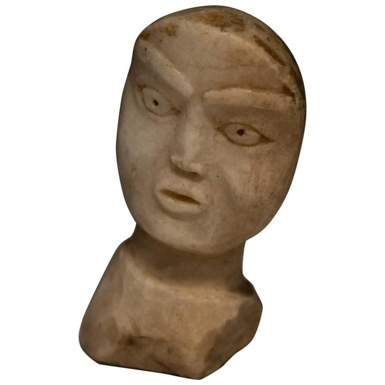 19th Century Native American Shaman's Doll Effigy Head