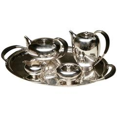 Georg Jensen Sterling Silver Art Deco Five-Piece Service No.787 by Johan Rohde