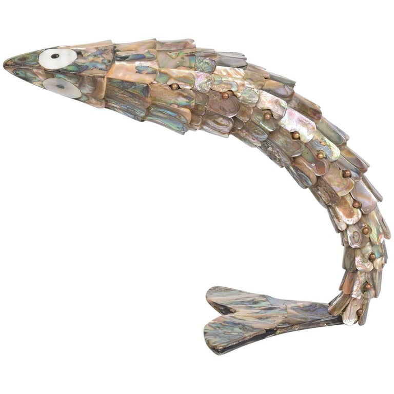 1960s Oversized Mexican Articulated Fish Bottle Opener