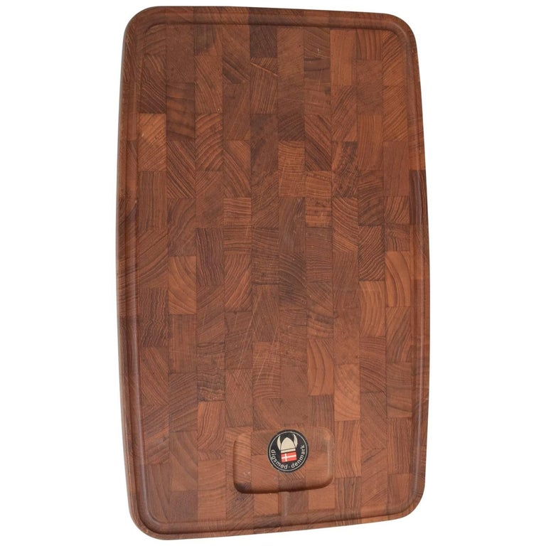 Midcentury Danish Teak Cutting Board by Digsmed Denmark, 1960s For Sale