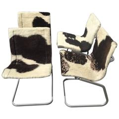 Set of Four Cowhide Chairs
