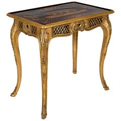 Giltwood Reversible Table