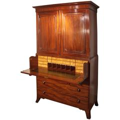 19th Century Georgian Mahogany Linen Press