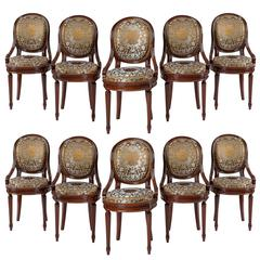 Set of Ten Medallion Chairs