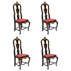 Set of Four Chinese Style Chairs