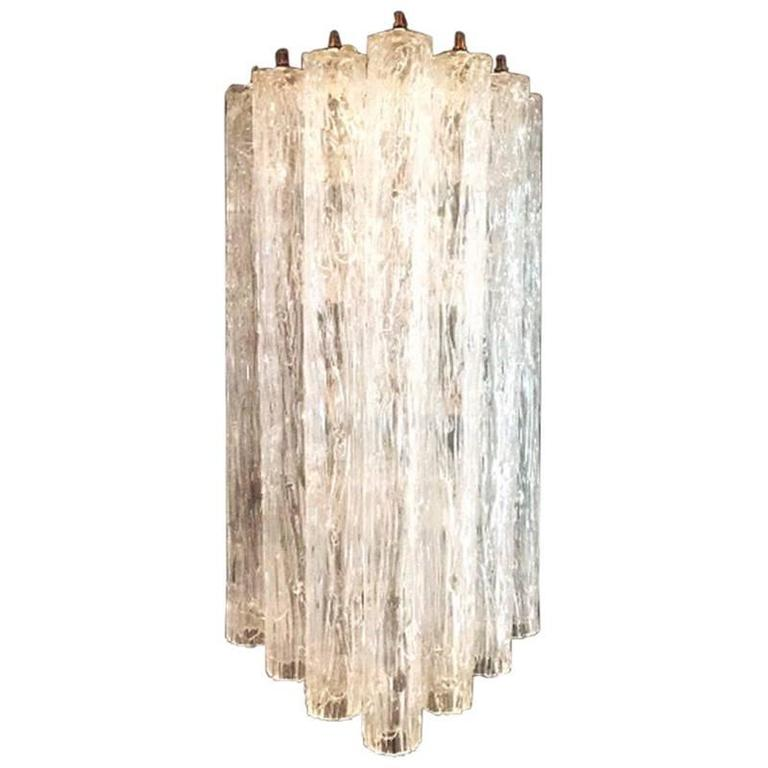 Large Murano Wall Lamp by Toni Zuccheri for Venini, 1960s