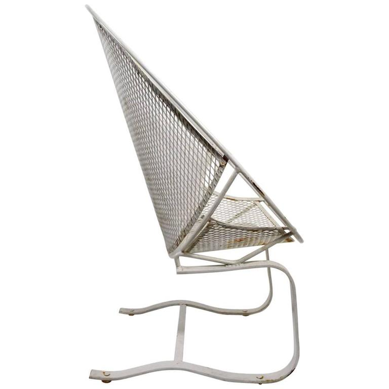Salterini High Back Cantilevered Chair For Sale