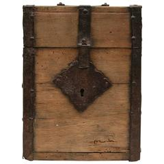 17th-18th Century German Wooden Strong Box