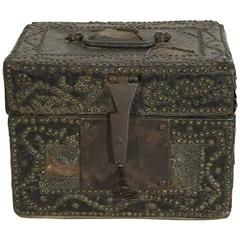 Small 17th Century, French Coffer/Box in Leather