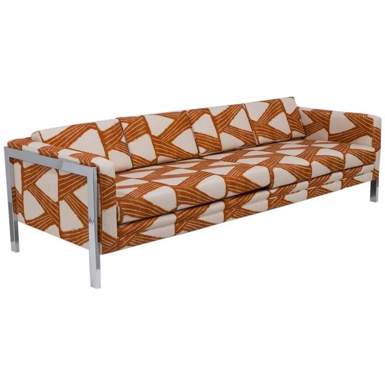 Milo Baughman Attributed Three-Seat Sofa, 1970s