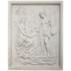 Neoclassical Style Wall Relief, Second Half of the 20th Century