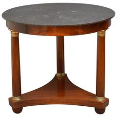 French Mahogany Gueridon Table
