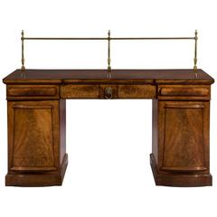 Early 19th Century William IV Period Mahogany Breakfront Pedestal Sideboard