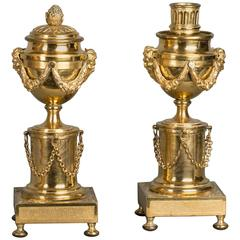 "Very High Quality So Called Candle Sticks ""a Double Usage"", circa 1780"