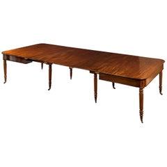 Early 19th Century Regency Period Cuban Mahogany Telescopic Dining Table