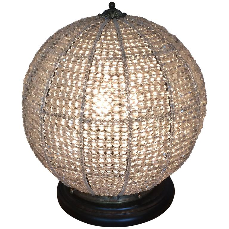 Sensational Beaded Orb Table Lamp For Sale