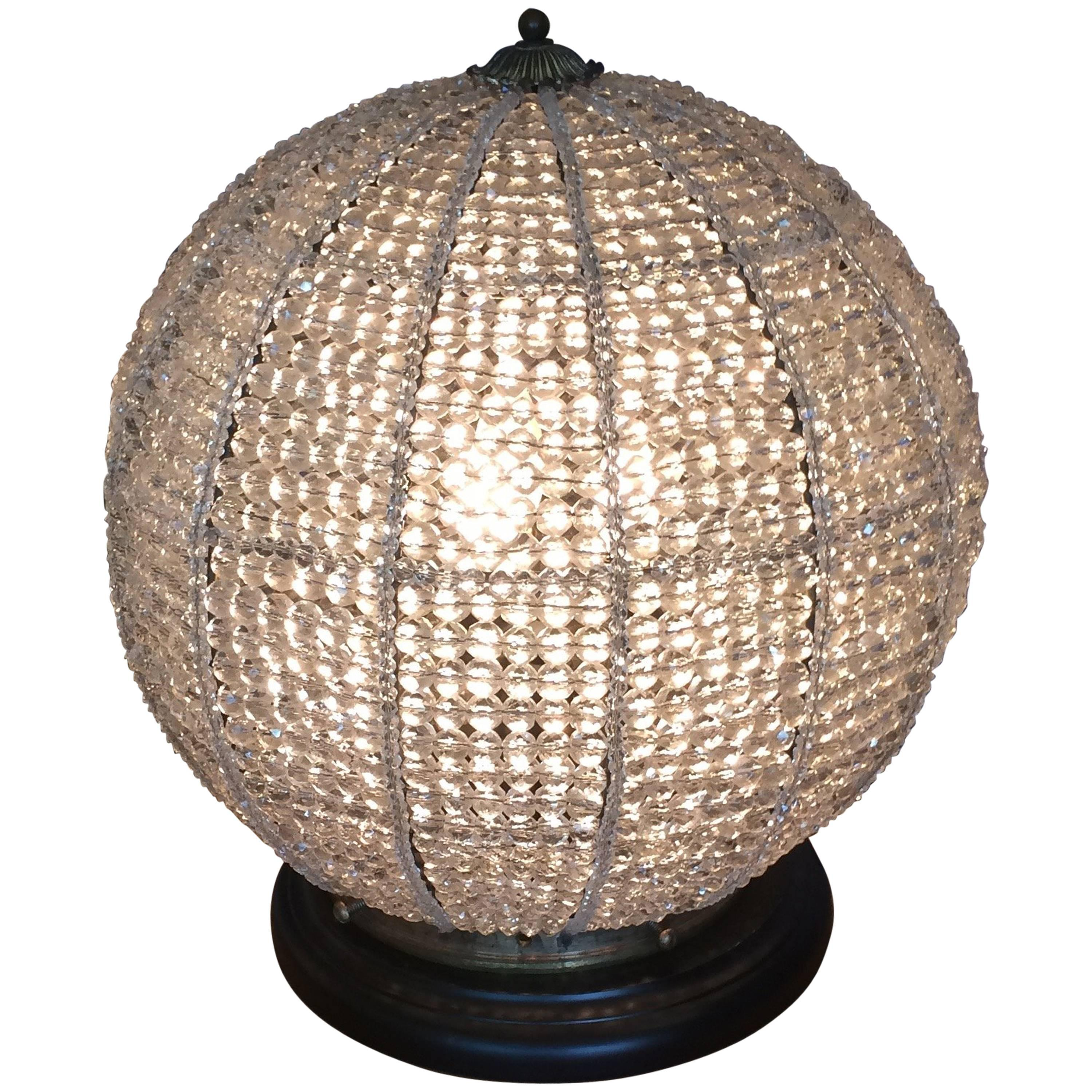 Sensational Beaded Orb Table Lamp For Sale At 1stdibs