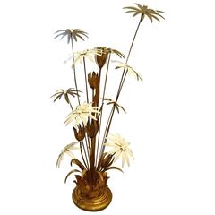 Mid-20th Century Palm Lamp