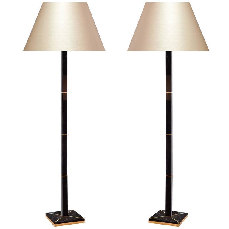 Modern Dark Brown Rock Crystal Floor Lamp For Sale At 1stdibs