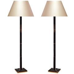 Modern Dark Brown Rock Crystal Floor Lamp