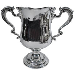 Antique American Sterling Silver Two-Handled Trophy Cup