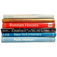 Set of Six Book on Interior Design