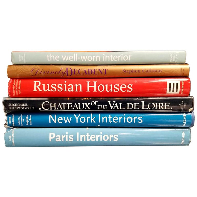 Set of Six Book on Interior Design For Sale