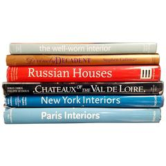 Set of Six Book on Interior Design