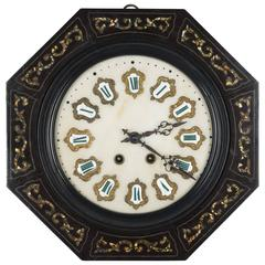 19th Century Napoleon III Wall Clock