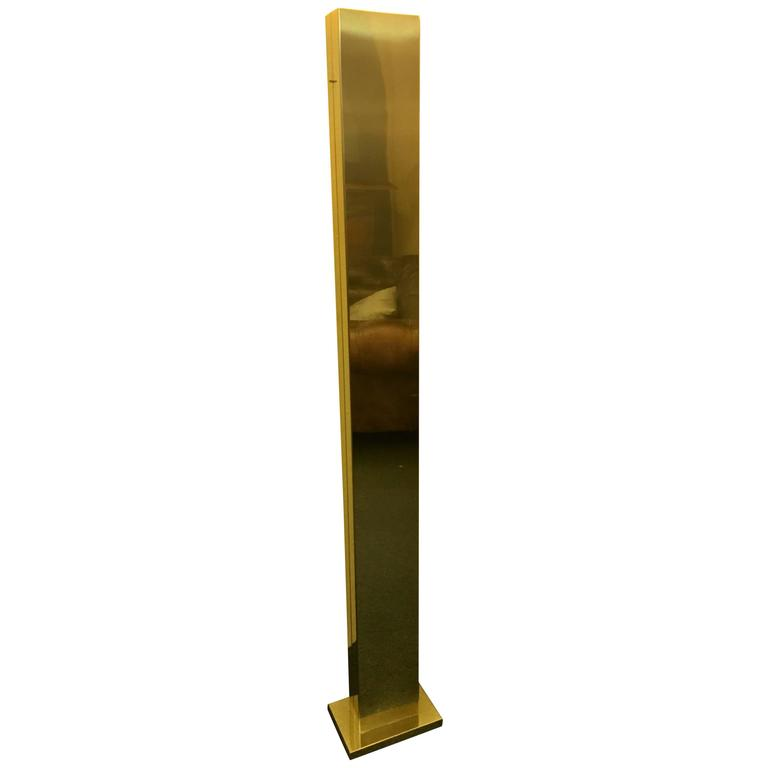 Elegant Polished Brass Torchiere Floor Lamp by Casella Lighting