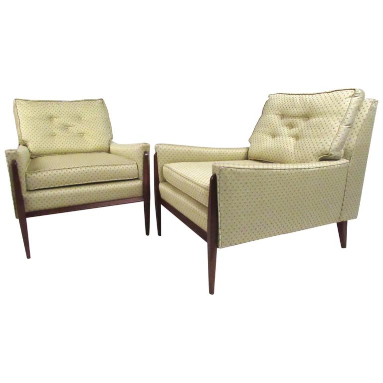 Stylish Pair of Paul McCobb Style Lounge Chairs