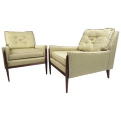 Stylish Pair of Mid-Century Modern Paul McCobb Style Lounge Chairs