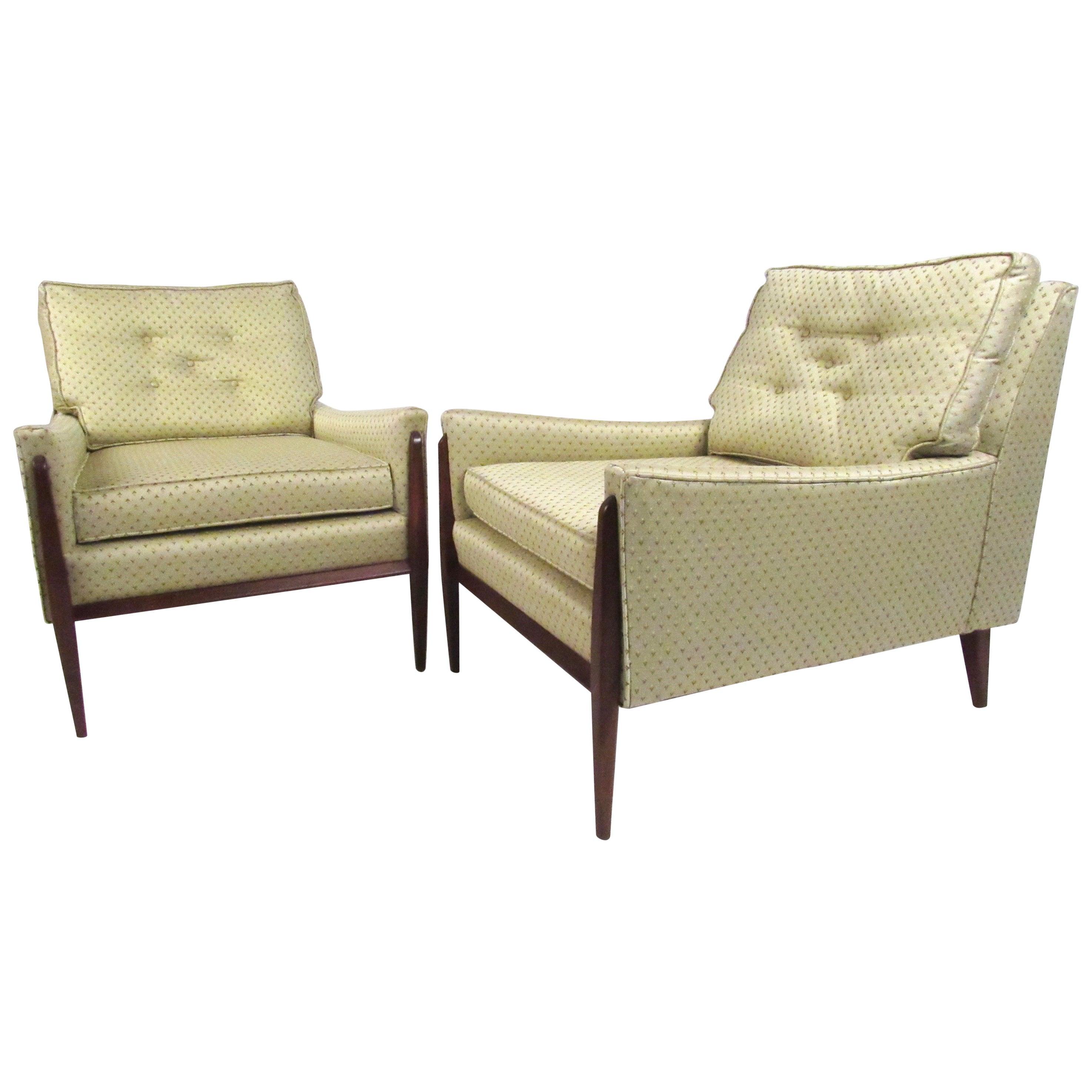 Stylish Pair of Mid-Century Modern Paul McCobb Style Lounge Chairs