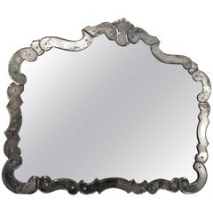 Fine Venetian Style circa 1930s Vanity or over the Mantel Mirror